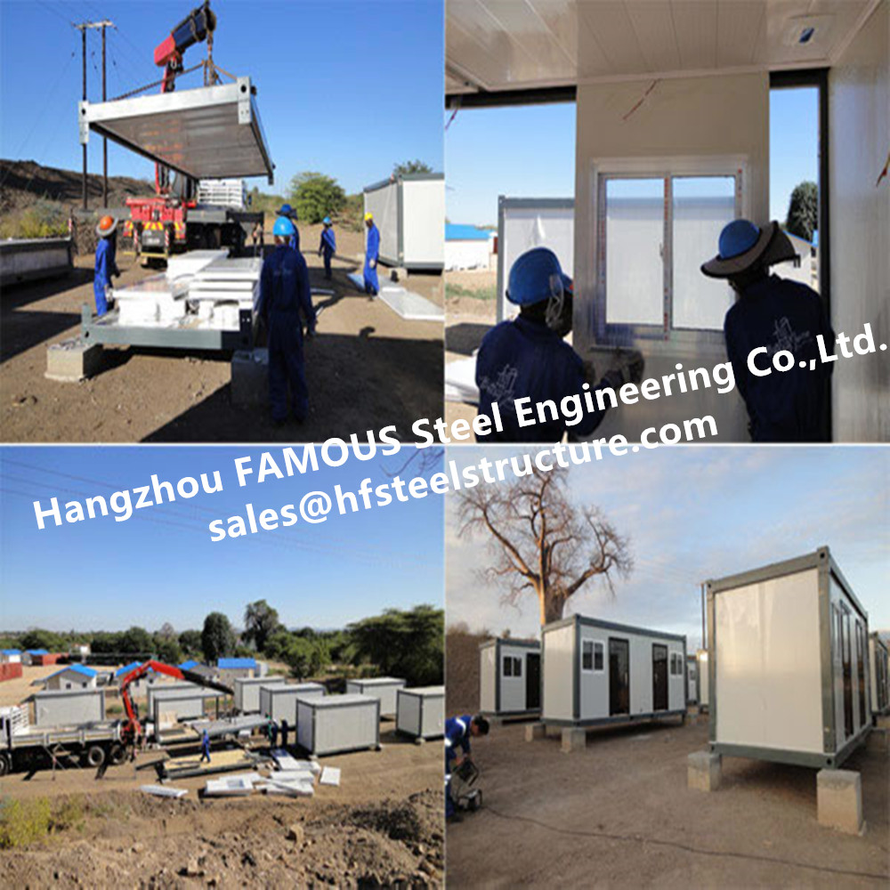Modern Steel Frame Modular &Prefab Container Homes For Site Office And Temporary Accommodation