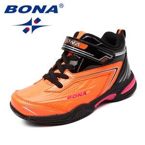 Image 5 - BONA החדש סגנון ילדי נעליים יומיומיות תחרה עד בנות נעלי סינטטי בני דירות חיצוני אופנה סניקרס נוח משלוח חינם