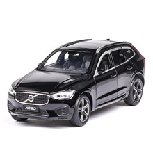 1:32 diecast  car model Volvo xc60 alloy car model off-road vehicle suv simulation toy sound and light pull back car gift 1 43 a3 sportback suv high end metal model car diecast vehicle parts van several colors