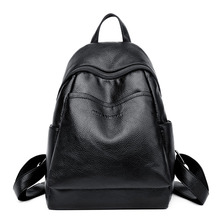 цены Women High Quality Pu Leather Backpacks School Tote Bag Student Backpacks Ladies Female Shoulder Bags Leather Package mochila