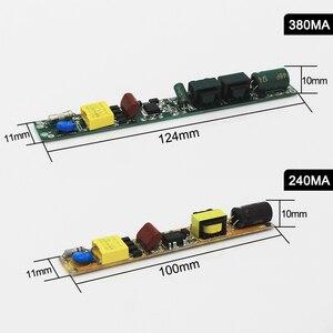 Image 5 - 9W 14W 18W 25W 30W świetlówka led Driver DC36 86V 240/380mA zasilacz 85 V 265 V transformator lighiting 0.6/0.9/1.2/1.5 Tube lights