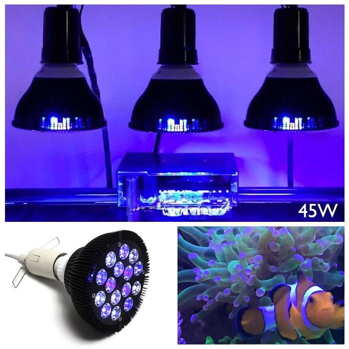45W  E27  LED aquarium lights  PAR38 aquarium light coral lights