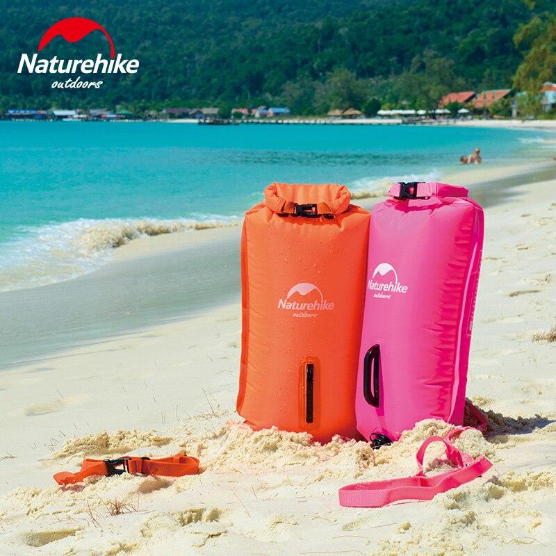Naturehike Swim Waterproof Dry bag Outdoor Sport Bags Beach Swimming Bag PVC Sealed Tourist Equipment 28L