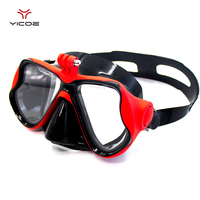 Snorkeling Tempered Glass Diving Goggle Scuba Gear Mask Mount For Go Pro Hero 5 4 SJ4000