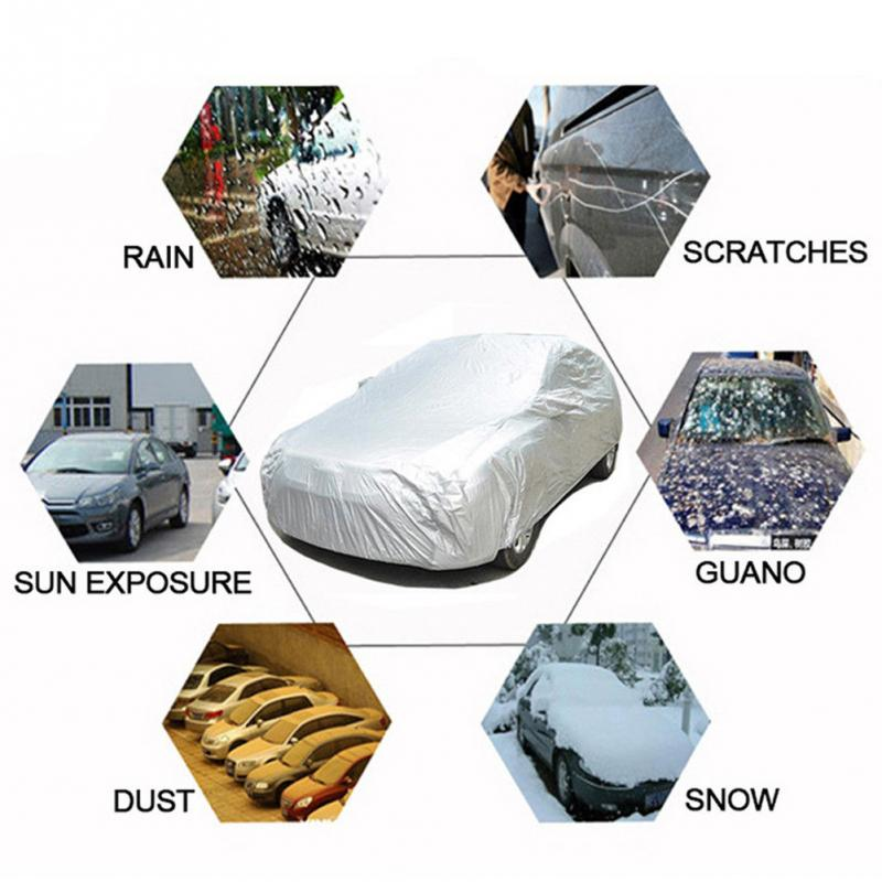 Image 5 - High Quality Universal Car Body Cover Sun proof Dust proof Car Protective Cover-in Car Covers from Automobiles & Motorcycles