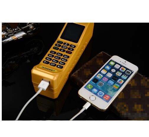 Super Big KR999 Luxury Retro Telephone With Russian Keyboard Loud Sound Power Bank Standby Dual SIM