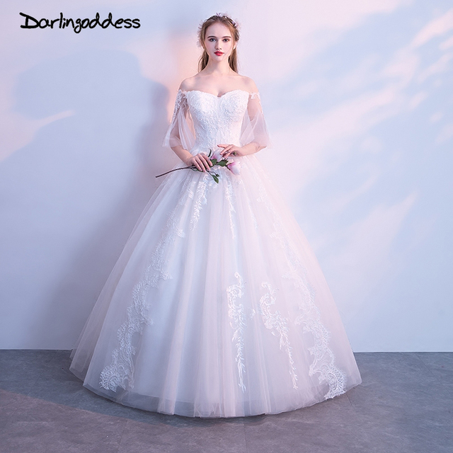 Darlingoddess Vestido de Noiva Luxury Lace Ball Gown Wedding Dresses ...