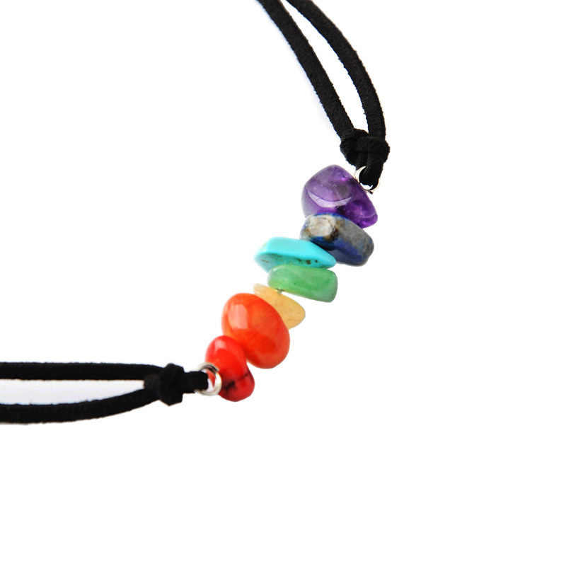 Europe And The United States Handmade Ornaments Natural Stone Colorful Beads Necklace Yoga Buddha Beads Energy Seven Chakra