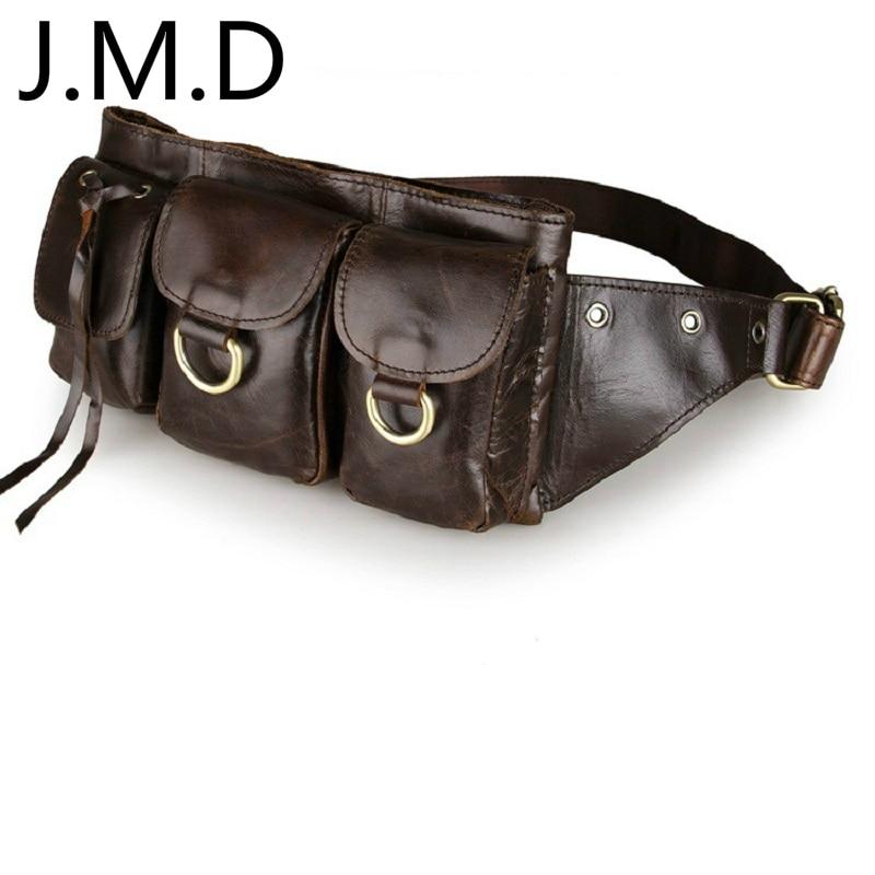 J.M.D Cow Leather Fanny Small Messenger Shoulder Satchel Waist Bag Pack