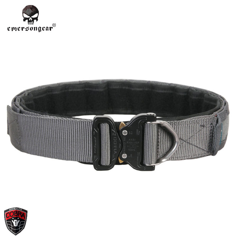 Emersongear D-Ring Riggers Combat Belt Emerson original COBRA buckle 1 75 2  inch Tactical Gear Military Airsoft Emerson Hunting