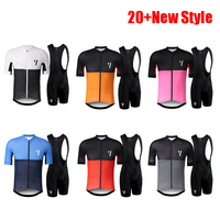 2019 Summer Pro team Short Sleeve Men's Cycling Jersey Bib Shorts Bike Set Clothes Ropa Ciclismo Bicycle Clothing kits 9D Pad