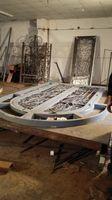 Szanghaj Chiny fabryka produkcji kute Żelazne drzwi wysokiej jakości eksport do USA, model hench-ad20