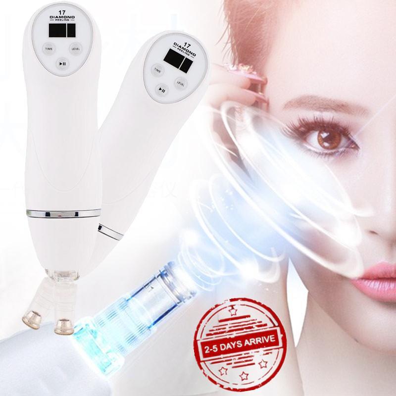 Aspirateur nettoyeur de pores nez points noirs ventouse diamant Microdermabrasion Machine avec filtres en coton Kit de nettoyage de points