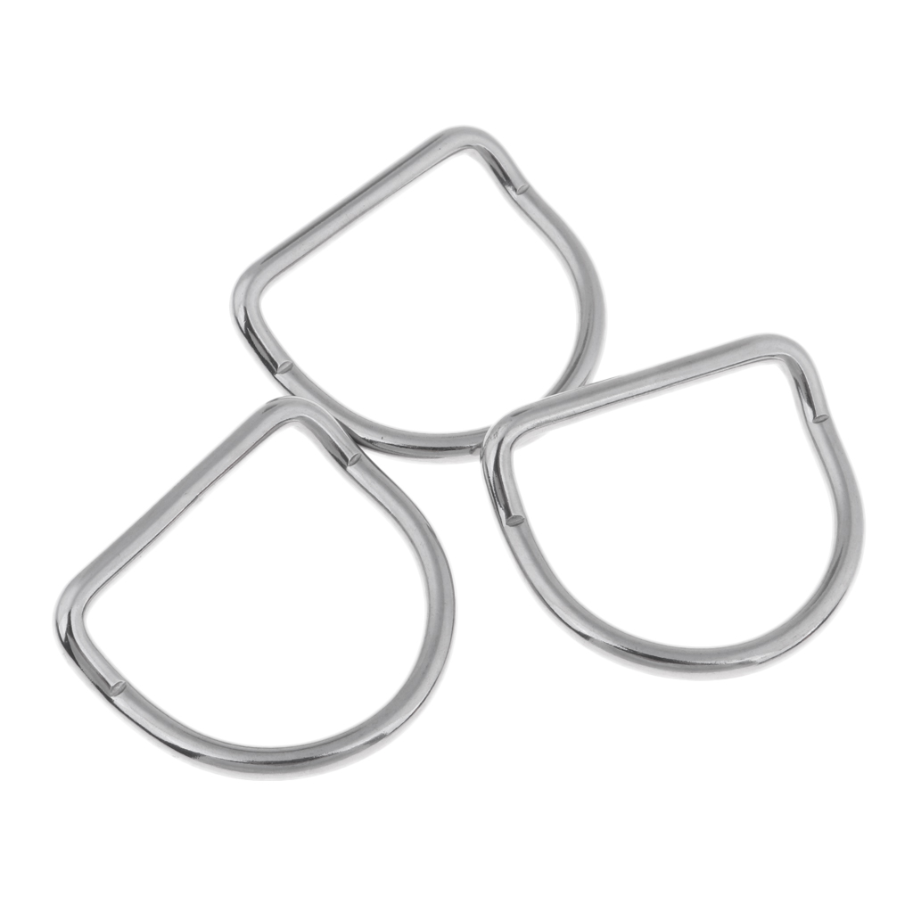 Pcs Universal Scuba Diving Snorkeling Bent D Ring For Weight Belt Webbing - Corrosion Resistance 316 Stainless Steel