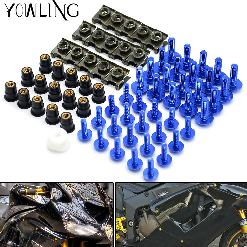 Motorcycle accessories custom fairing screw bolt windscreen screw FOR YAMAHA YZF R1 R3 R6 R10 R25 MT-09 FZ09 MT-07 FZ07 FZ1 motorcycle accessories custom fairing screw bolt windscreen screw for yamaha yzf r1 r6 2005 2006 2007 2008 2009 2010 2011 2012
