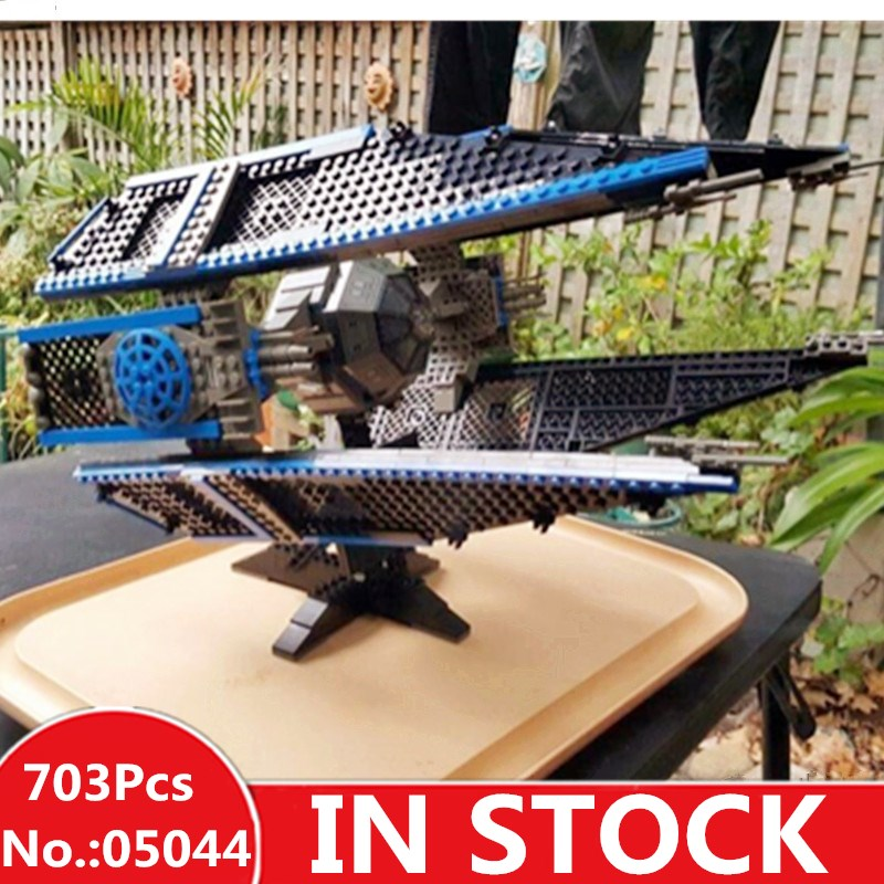 H&HXY IN STOCK 05044 Star Model The TIE Interceptor wars 703pcs Building Blocks Bricks lepin Toys 7181 Christmas Gifts