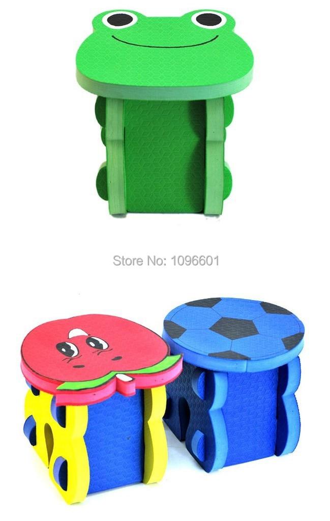 Eva Foam Cartoon Kids Chair DIY Children Baby Portable Tabourers Fashion  Child Furnitures Casual Stool DIY Children Chair  In Children Chairs From  Furniture ...