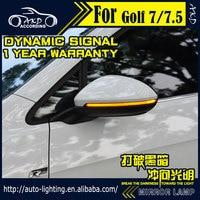 AKD Car Styling Turn Signal Lamp for VW Golf 7 led rear mirror indicator dynamic running lamp Led flash kit position lights