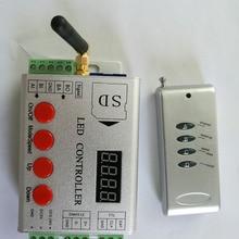 Светодиодный РЧ контроллер пикселей; sd-карта; 2048 пикселей контроллер; Поддержка dmx консоли(для выбора программ); APA102/WS2812B/WS2811