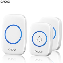 CACAZI Waterproof Wireless Doorbell 300M Remote Battery Button Home Call Ring Be