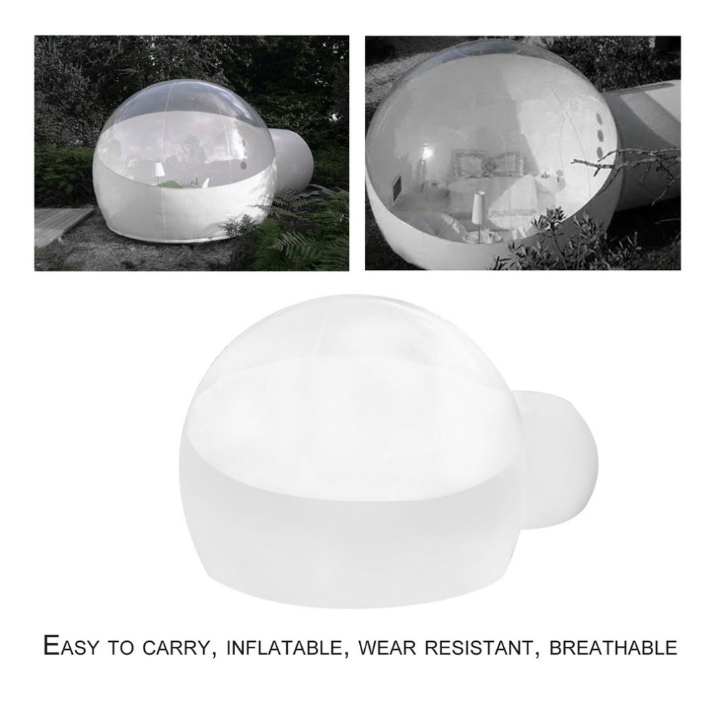 Innovative Stargaze Outdoor Single Tunnel Inflatable Bubble Camping Tent Transparent Half-n-half Look Great For Outdoor New мягкие игрушки peppa pig мягкая игрушка пеппа модница 20 см