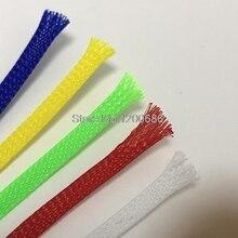 10 м 2/4/6/8/10/12/14/16 мм провод кабель защищает цвет PET USB кабель с нейлоновой оплеткой кабель рукав высокой плотности жгута проводов защиты