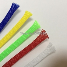 10M 2/4/6/8/10/12/14/16mm Wire Cable Protecting Color PET Nylon Braided Sleeve High Density Wiring Harness Loom Protection