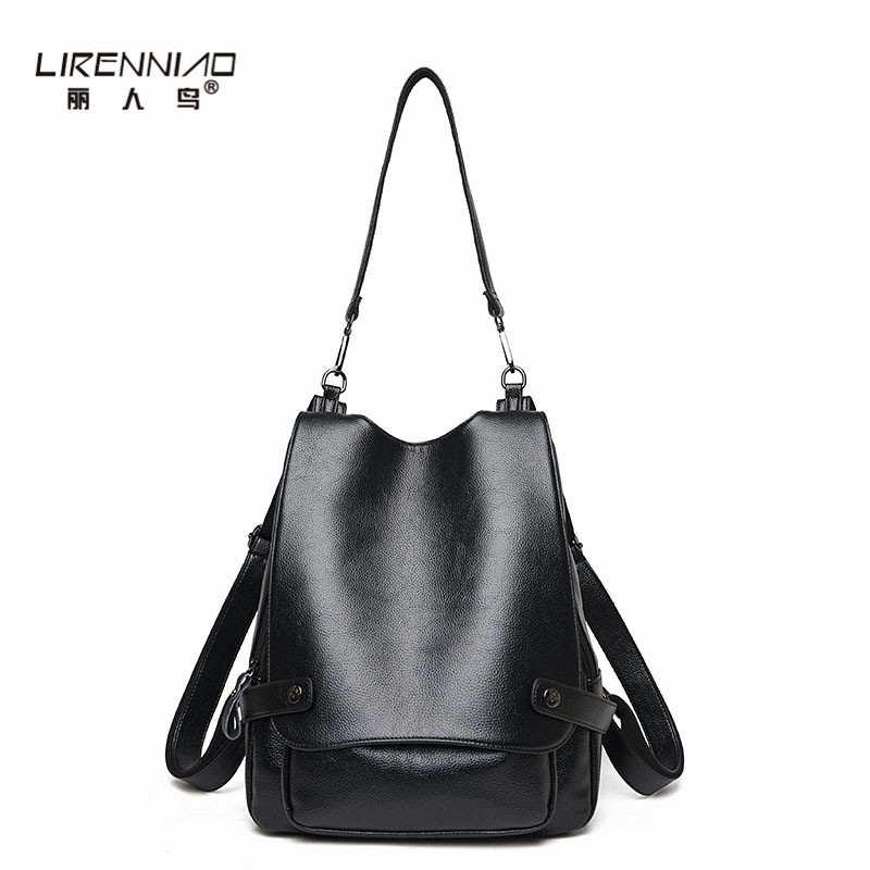 LIRENNIAO Brand Backpack Women Backpack Fashion Leather School Bags for Girls Travel Back Pack 2017 Woman