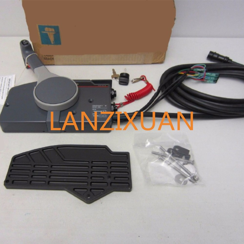 Outboard Remote Control Assy 10Pin Cable For Parsun Yamaha Outboard Controller 703 48205 1A 703 48205 16