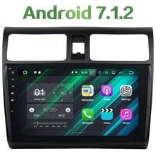 2GB RAM 16GB ROM Android 7.1.2 Quad core GPS Navi 12V Stereo FM Bluetooth MP3 Audio Car Radio player for Suzuki Swift 2013-2017