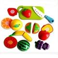 Divertidos gadgets De Corte De Plástico frutas Cocina Comida Juego de Imaginación Artificial Casa Bebé Niños de Juguete Clásico de la Fiesta de Cumpleaños