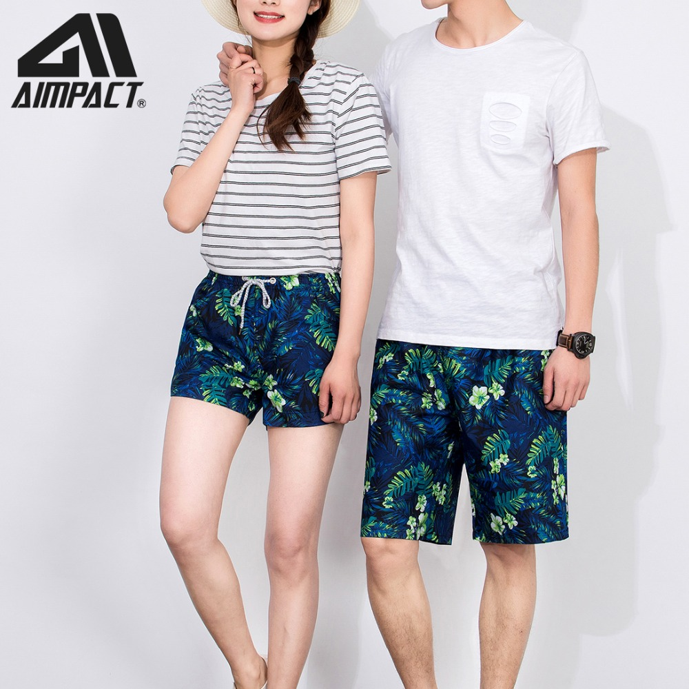 Men Fashion Print   Board     Shorts   Swimwears Summer Quick Dry Surf Beach   Shorts   Holiday Swim Trunks Men Women Love Couple Swim   Short