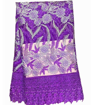 AA1-1 Latest Design Purple French Mesh Lace With Full Stones For Party ,Big Sale high quality Tulle lace