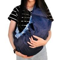 Qualidade econômico portador de bebê frente Algodão Orgânico Stretch lado cesta envoltório mochila estilingue Infantil Azul vermelho rosa