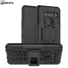 For Case LG V50 ThinQ 5G Cover Dual Layer Armor Silicone Back Phone Holder Stand Shell Capa