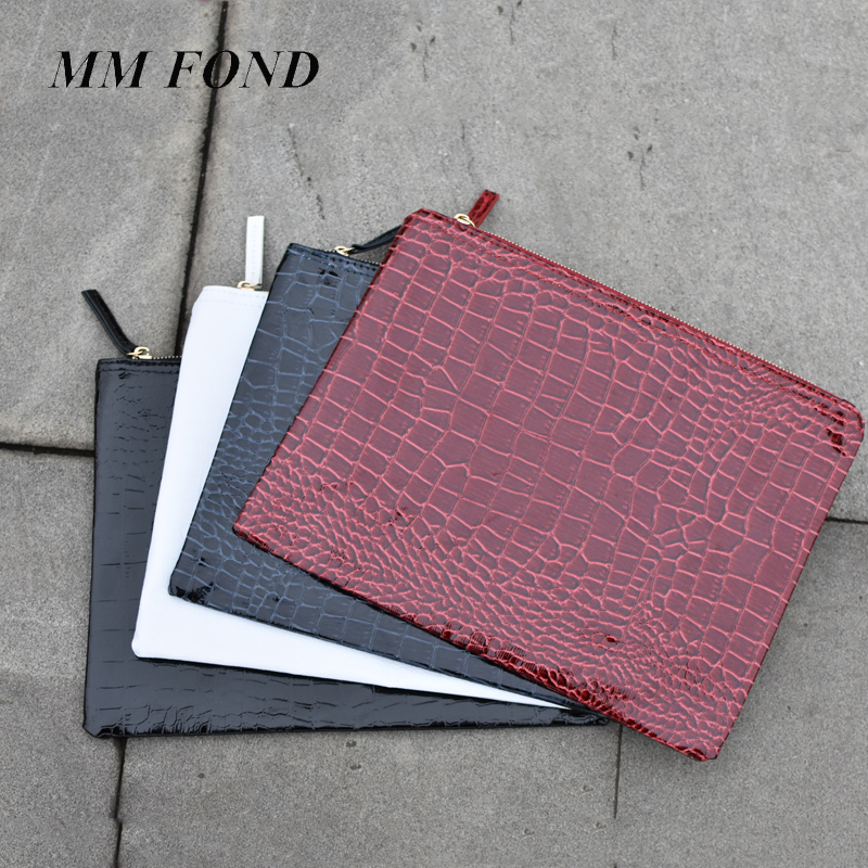 Purse Handbag Clutch-Bag Envelope Evening-Bag Fashion Crocodile Female Women's Feminina