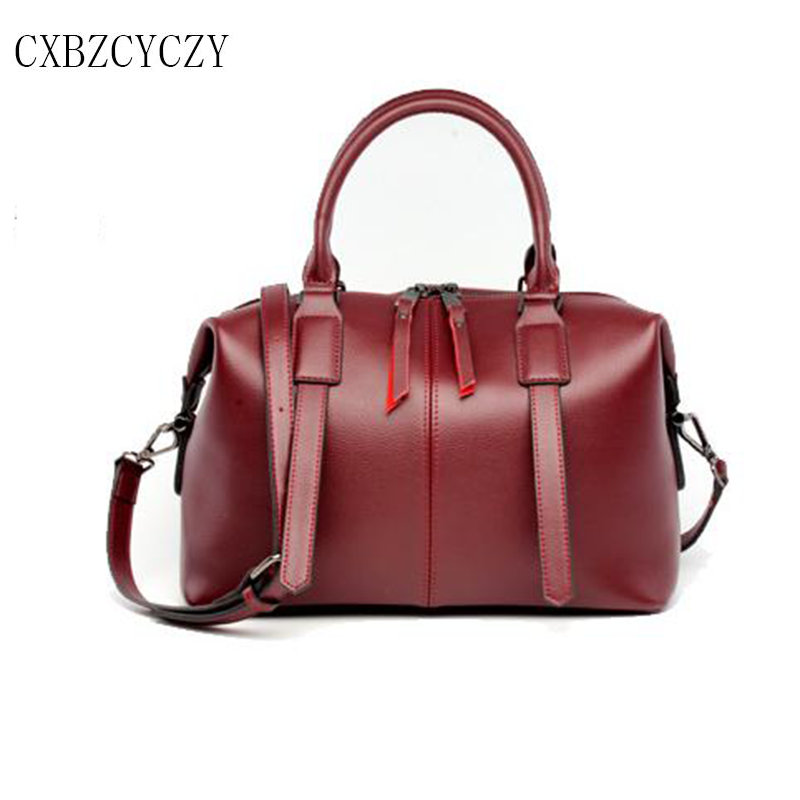 2017 100% Natural Genuine Leather Women Handbag First Layer Of For Women ladies Cowhide Tote Fashion Women Messenger Bags Bolsas genuine leather women s handbag one shoulder cross body small bags women s brief first layer of cowhide leather messenger bag