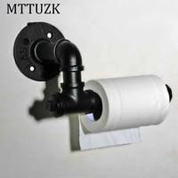 MTTUZK Creative toilet paper towel holder frame retro/oil bubbed bronze,black toilet roll holder paper holder Toilet accessories