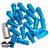 Mofe 20 unids/set 50mm rays tuercas de las ruedas universales rueda de aleación de aluminio que compite con las tuercas m12 * 1.5 (p: 1.5 l: 50mm) azul