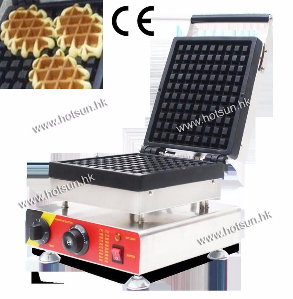Commecial Use Non-stick 110v 220v Electric Belgium Liege Waffle Iron Baker Maker Machine