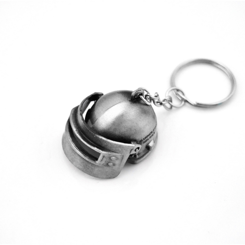 Creative Custom PUBG Keychain Men Jedi Helmet Anime Key Chain Metal Car Game Key Ring Banner Holder Jewelry Gift Souvenirs