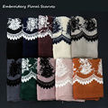 2016 Женщины вышивка Цветочные Хиджабы Хлопок Вискоза платки и шарфы зимние мусульманские хиджаб Шарфы мода вышивать уютный обертывание