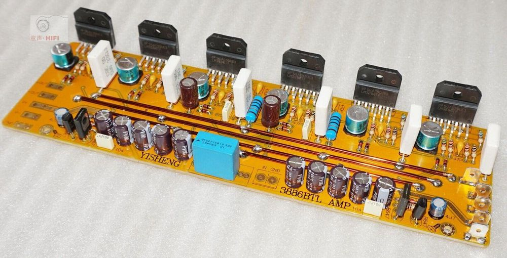 ФОТО LM3886X6 Mono 360W Amplifier board KIT