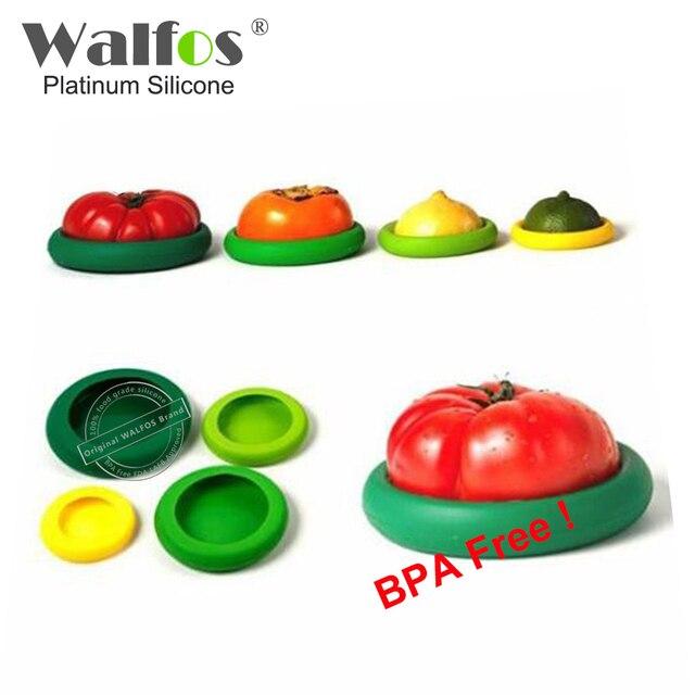 WALFOS 4 unidades Reutilizables Protectores de Los Alimentos de ...