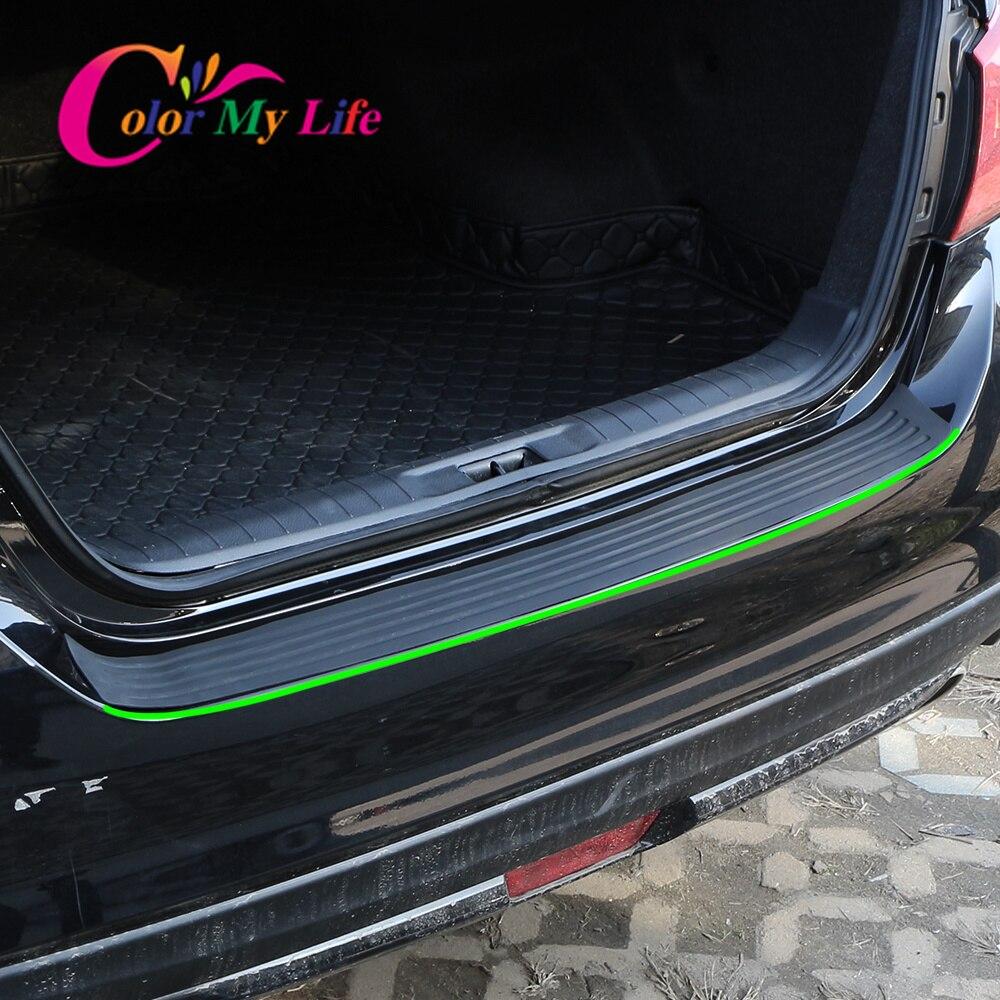 Brushed steel rear bumper protector Seat Leon ST III 2012-