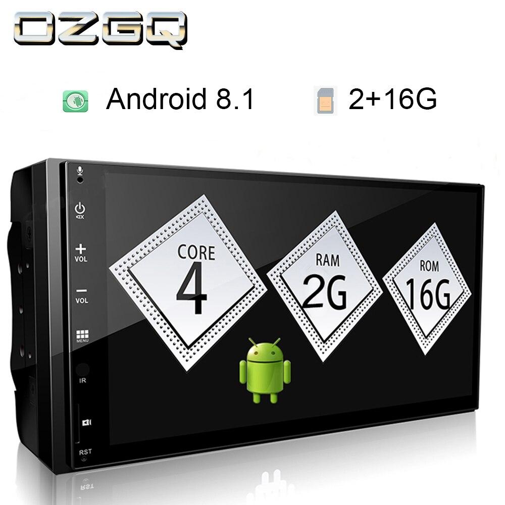 OZGQ Android 8.1 9.0 7 ''170*96 IPS écran tactile MP5 lecteur universel multimédia Android Autoradio voiture TDA7786 Audio stéréo