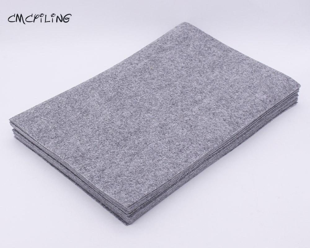 CMCYILING Flecking Gray Color 1mm Thickness Hard Felt Sheet Felt Diy Craft Home Decoration Bundle For Scrapbooki Sewing Dolls