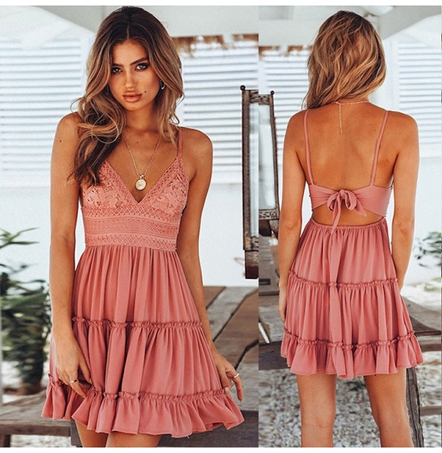 Summer Dress Solid...
