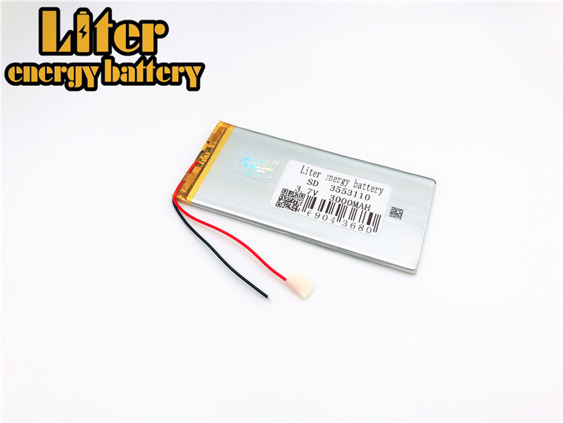 Rechargeable Batteries 3.7v 3000mah Polymer Lithium Li-ion Battery For Tablet Pc 7 Inch Mp3 Mp4 3553110 3555110 3570100 3 7v 3000mah lithium polymer battery for tablets mp3 mp4 more silver