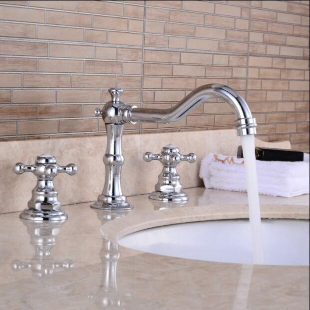 New high quality brass antique bronze finished bathroom widespread 8'sink faucet basin mixer tap бра chiaro версаче 254029501